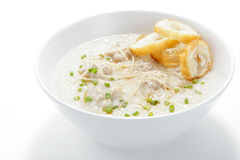 Pork congee with slice deep fried doughstick stock images