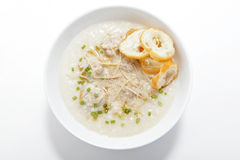Pork congee with slice deep fried doughstick royalty free stock photography