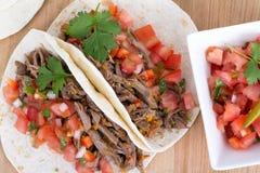 Pork cornita with pico Stock Photos