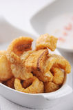 Pork cracklings. Crispy pork rinds, scratchings, greaves Stock Photography