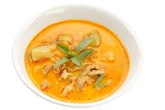 Pork curry in coconut milk. Stock Photo