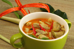 Pork curry green. Royalty Free Stock Images
