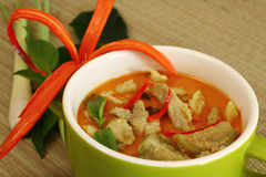 Pork curry green. Royalty Free Stock Image