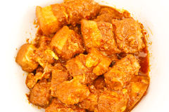 Pork Curry. Red curry pork ingredients with spices and herbs Royalty Free Stock Photo