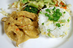 Pork Curry And Rice 2 Stock Images