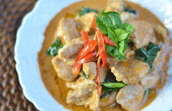 Pork Curry with spicy Thai food Royalty Free Stock Photos