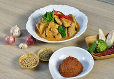Pork Curry with spicy Thai food Stock Photo
