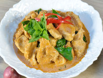 Pork Curry with spicy Thai food Stock Image