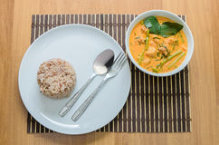 Pork curry with water spinach Royalty Free Stock Image