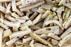 Pork, cut into pieces as background  thai food name mu yor Stock Photo