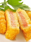 Pork cutlet. Delicious japanese style pork cutlet Royalty Free Stock Photo