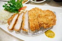 Pork cutlet, japanese food style tonkatsu Royalty Free Stock Photos