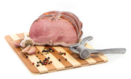 Pork on a cutting board. Royalty Free Stock Image