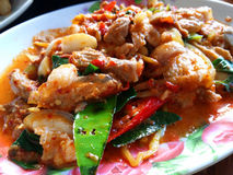 Pork in dried red curry Stock Image