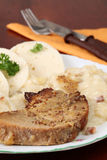 Pork with dumplings and sauerkraut Royalty Free Stock Photography