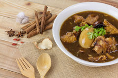 Pork and egg stewed in the gravy Stock Images