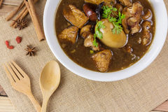 Pork and egg stewed in the gravy Royalty Free Stock Image