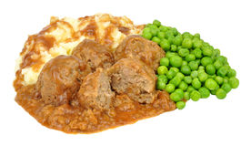 Pork Meatballs And Mashed Potato Meal Royalty Free Stock Image