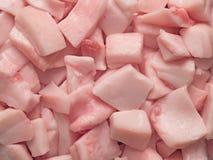 Pork fat cube food background Stock Photos