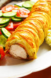 Pork fillet in puff pastry Royalty Free Stock Images