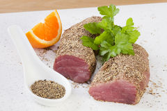 Pork Fillet or Tenderloin with Spice Crust Royalty Free Stock Photography