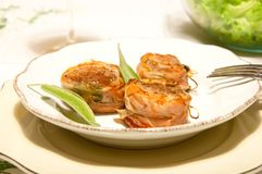 Pork fillet wrapped in speck with sage. Italy Stock Images