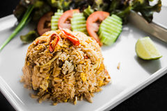 Pork fired rice. Royalty Free Stock Photography