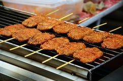 Pork fired Thai Style at Bangnamphung Floating Market Royalty Free Stock Image