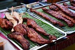Pork fired Thai Style at Bangnamphung Floating Market Royalty Free Stock Photo