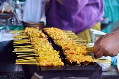 Pork fired Thai Style or Thai Pork Satay, 'Moo Satay' Stock Photography