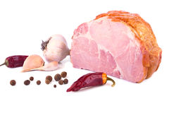 Pork fresh ham and spices Stock Photography