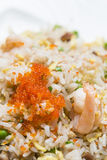 Pork fried rice with crab roe Stock Photos