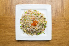 Pork fried rice with crab roe Royalty Free Stock Image
