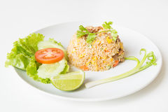Pork fried rice with egg thai style. Stock Image