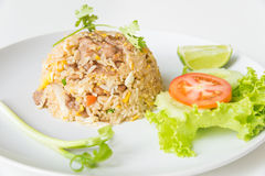 Pork fried rice with egg thai style. Royalty Free Stock Image