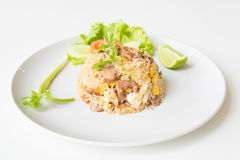 Pork fried rice with egg thai style. Stock Photography