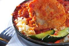 Pork fried rice Stock Photos