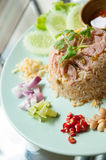 Pork fried rice Stock Photography