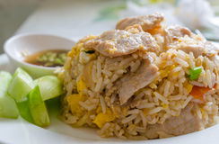 Pork fried rice Stock Photo