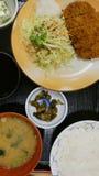 Pork fried stock photos
