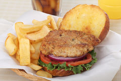 Pork Fritter Sandwich Stock Images