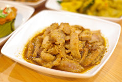 Pork with garlic fried, Thai food Stock Photo
