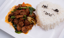 The Pork with Garlic. Royalty Free Stock Images