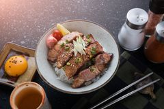 Pork grill on rice or Buta Yaki don. Stock Images