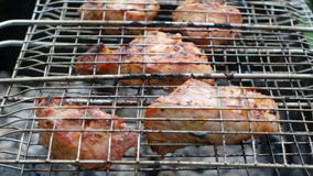 Pork on the grill. Summer barbecue concept. Royalty Free Stock Photography