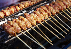 Pork grill in thai food Stock Images