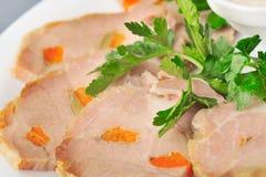 pork grillade skivor Arkivbilder