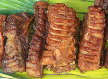 Pork grilled in market. Thailand Royalty Free Stock Photography