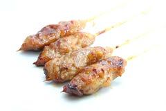 Pork grilled skewer Stock Image