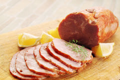Pork ham on board Stock Photography